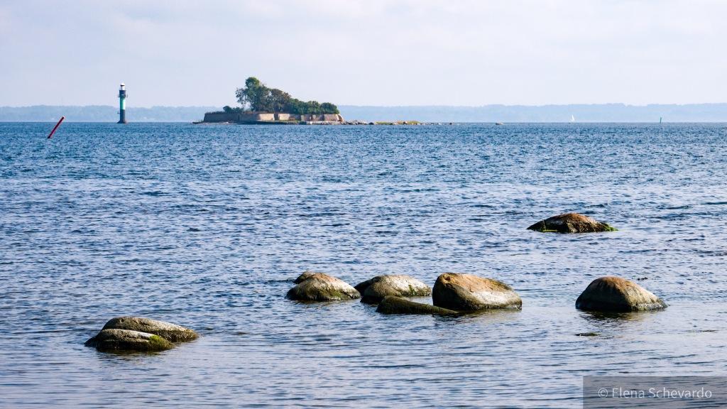 Blick von Kalmar, Schweden, aufs Meer