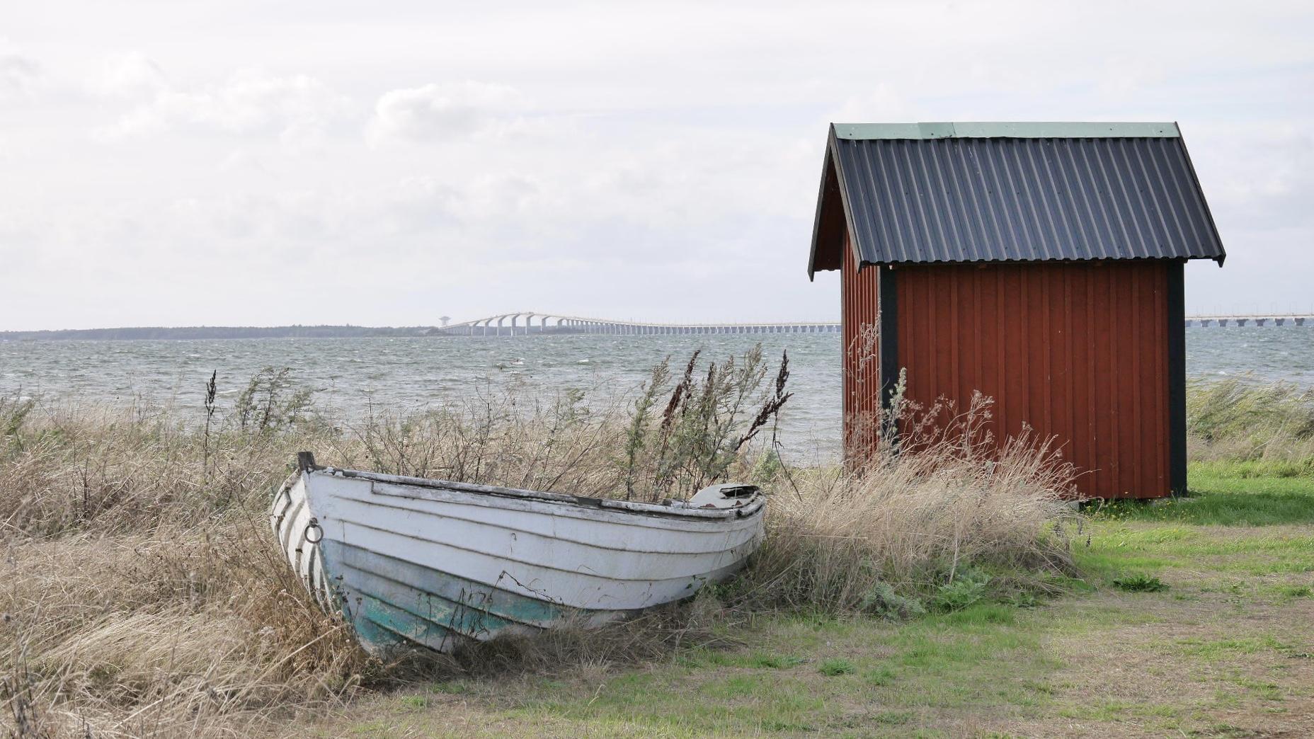 Blick auf Kalmarsund und die Ölandbrücke