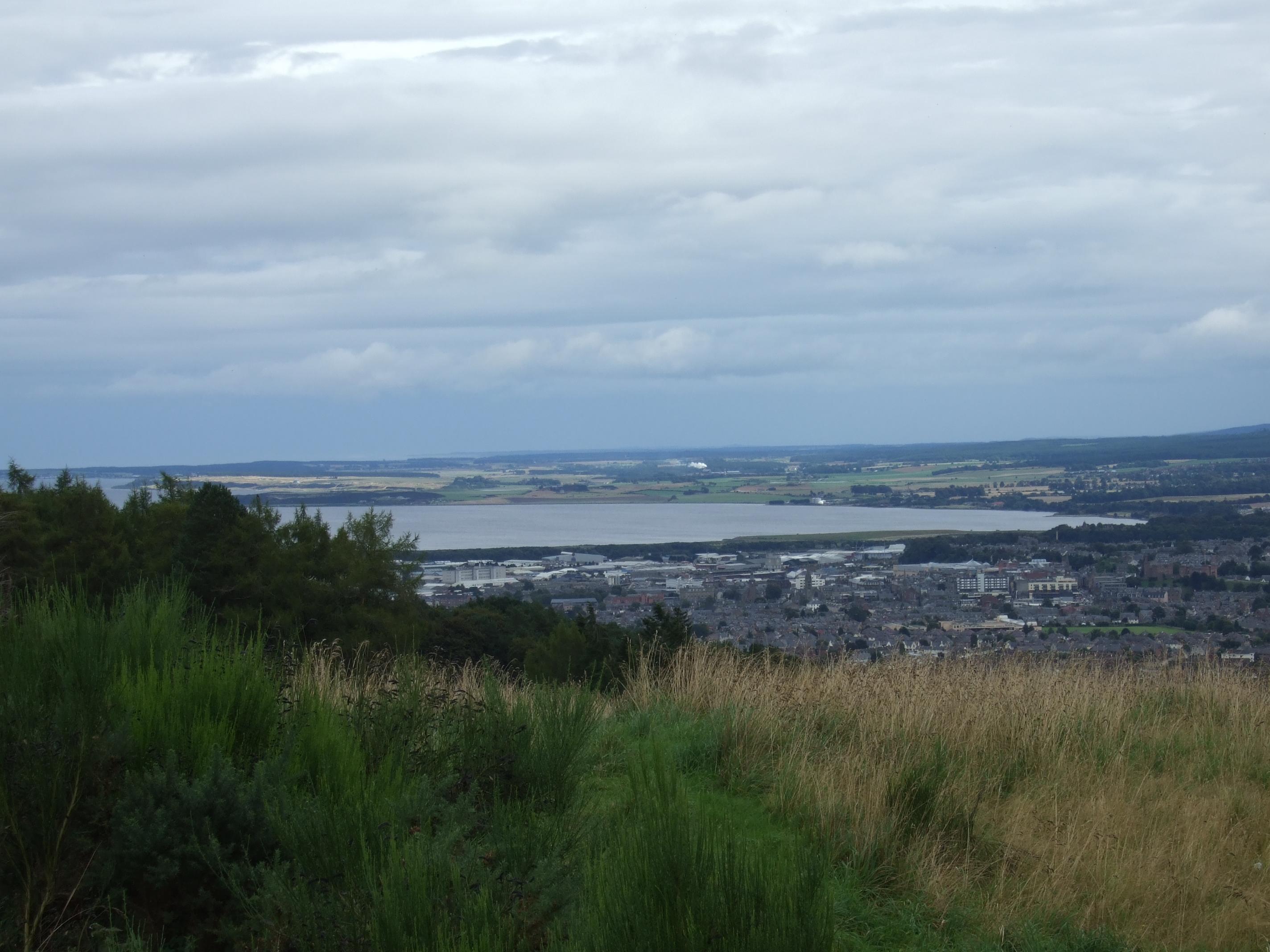 Ein letzter Blick zurück auf Inverness