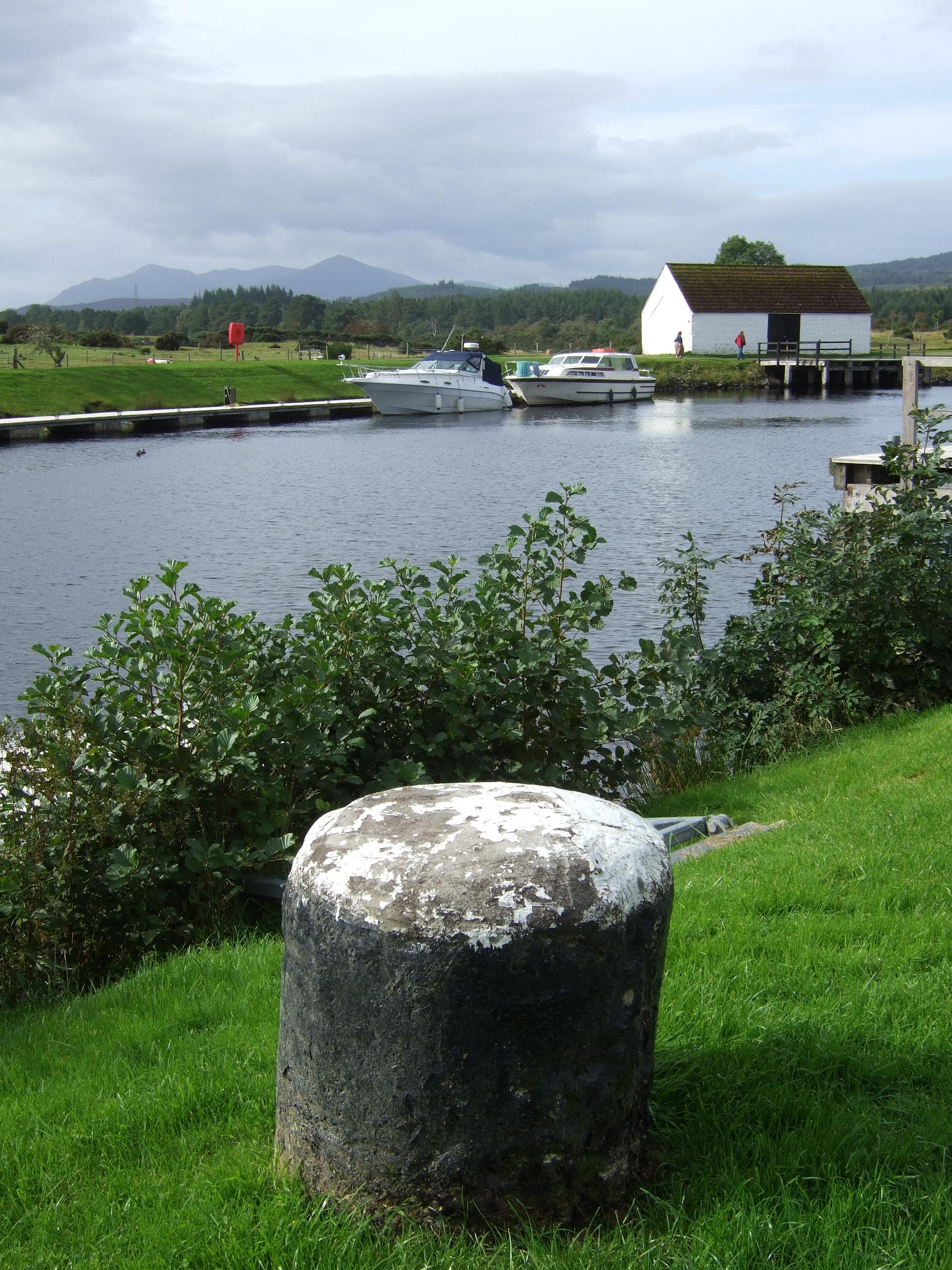 Hafenpoller am Ortsausgang von Fort Augustus